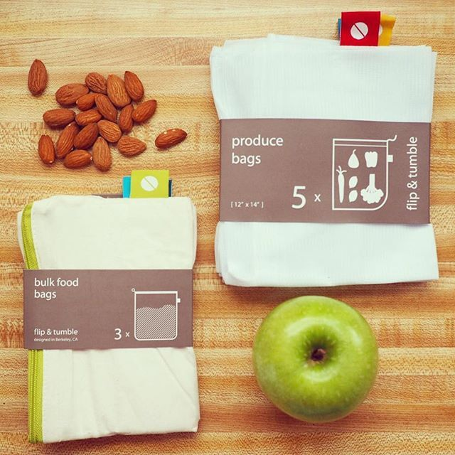 We've got your zero waste grocery solutions right here! Shop these washable and reusable bags at BeHomeWell.com > Store + Protect. Just think of all the plastic and other resources you save by packing our drawstring produce and zippered bulk bags from flip & tumble, you Rock Star. The compliments you'll receive on your sustainable cart will leave you feeling like one! Be sure to name drop BeHomeWell, even after you're Eco famous.