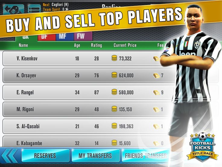 Looking for some fresh talent, or got a more 'experienced' player who's about to retire? Check out the Transfer market - you could be on to a winner!