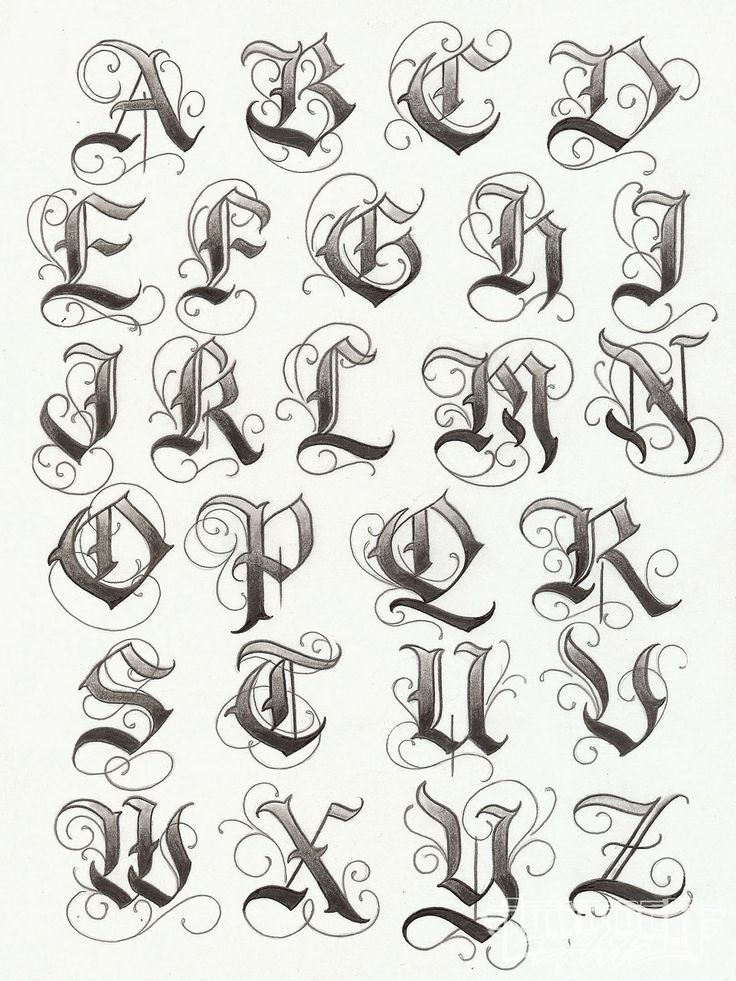 Art Tattoo Artist Enrique Castillo Alphabet List Photo 9 More