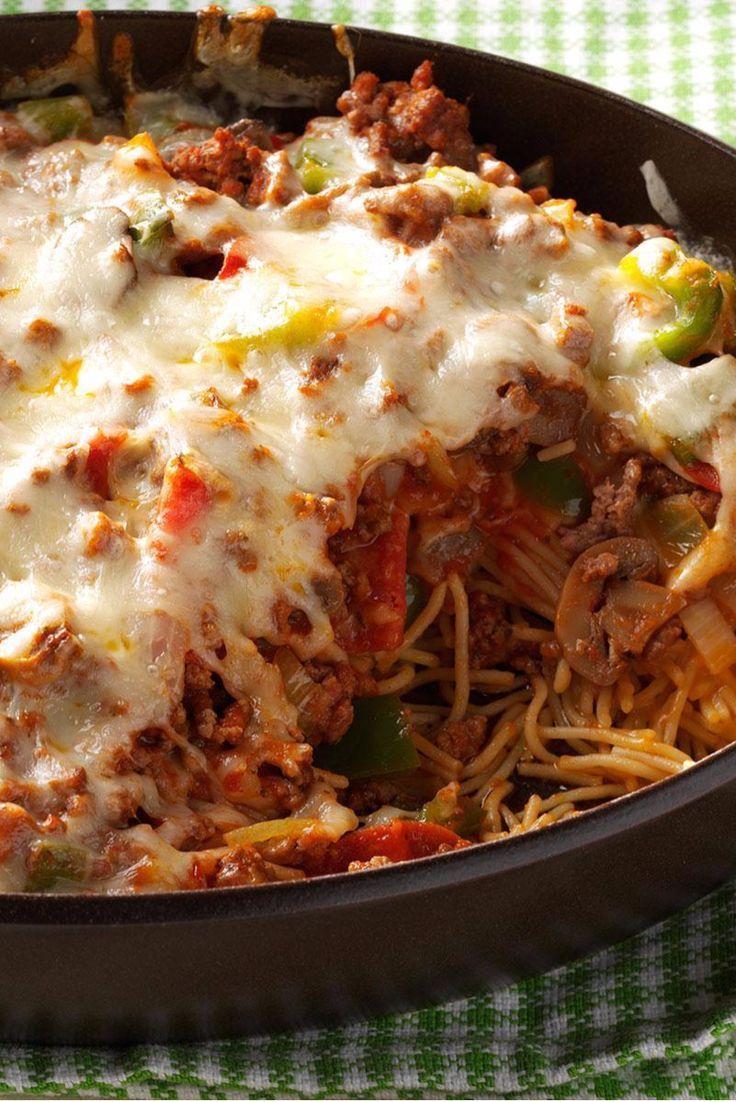 Cheesy Pizza Casserole Recipe Main Dish Recipes Recipes Ground Beef Recipes