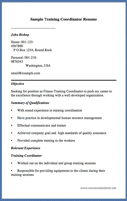 17 Best Images About Free Resume Sample On Pinterest | Letter