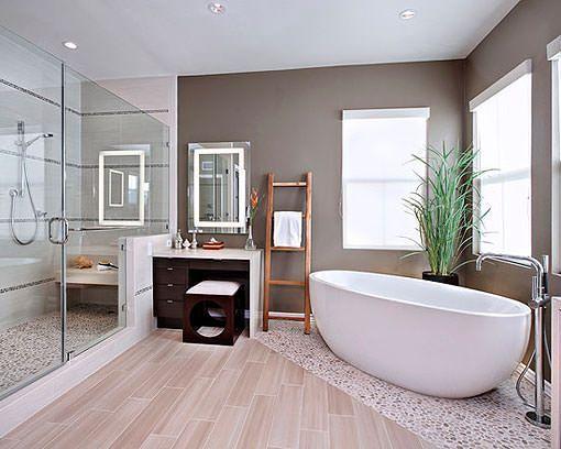 Bañera exenta de estilo moderno