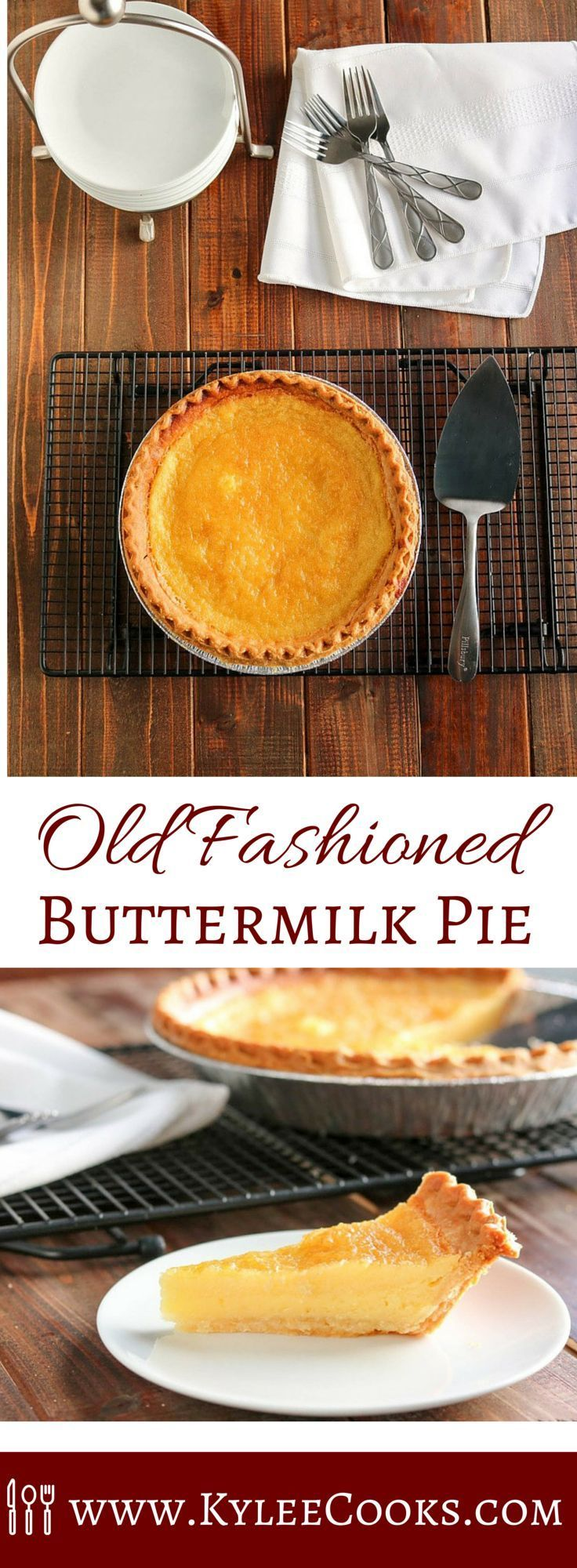 Just like your grandmother or great Aunt Millie used to make, this traditionally southern buttermilk pie is simple to make and pleases the whole family. And also impresses coworkers.