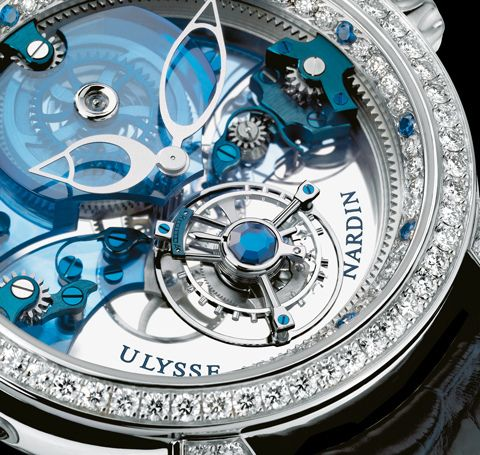 """""""Royal Blue Tourbillon"""" ~ Ulysse Nardin is a watch manufacturer founded in 1846 in Le Locle, Switzerland."""