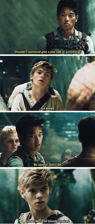 I wish they had this in the movie!!! << They should have had it. T.T maze runner