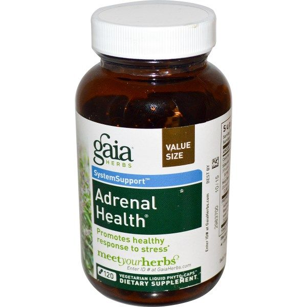 Gaia Herbs, Adrenal Health, 120 Veggie Liquid Phyto-Caps  #stress #formula #support #balance #management #iherb #thingstobuy #shopping #relief