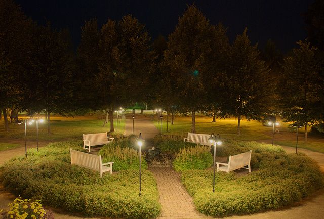 Nocturnal shot on a park in Kauhajoki