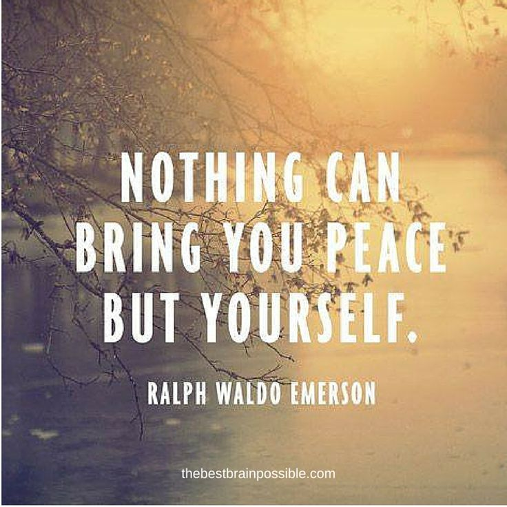 This is true. I wish others would understand this. If you're not at peace with yourself, you will never be happy. If you have accepted the wrong that you have done to others or they have done to you learn from It and move on. There's nothing more pathetic then holding on to something that's already in the past.
