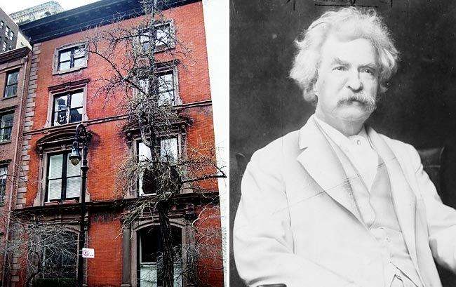 """The """"House of Death"""", New York - It is reported that 22 of the townhouse's former residents haunt the building - Mark Twain being one of them. Many of the residents died under mysterious causes. It is also cursed, being the home where Joel Steinberg beat his daughter to death on the second floor."""