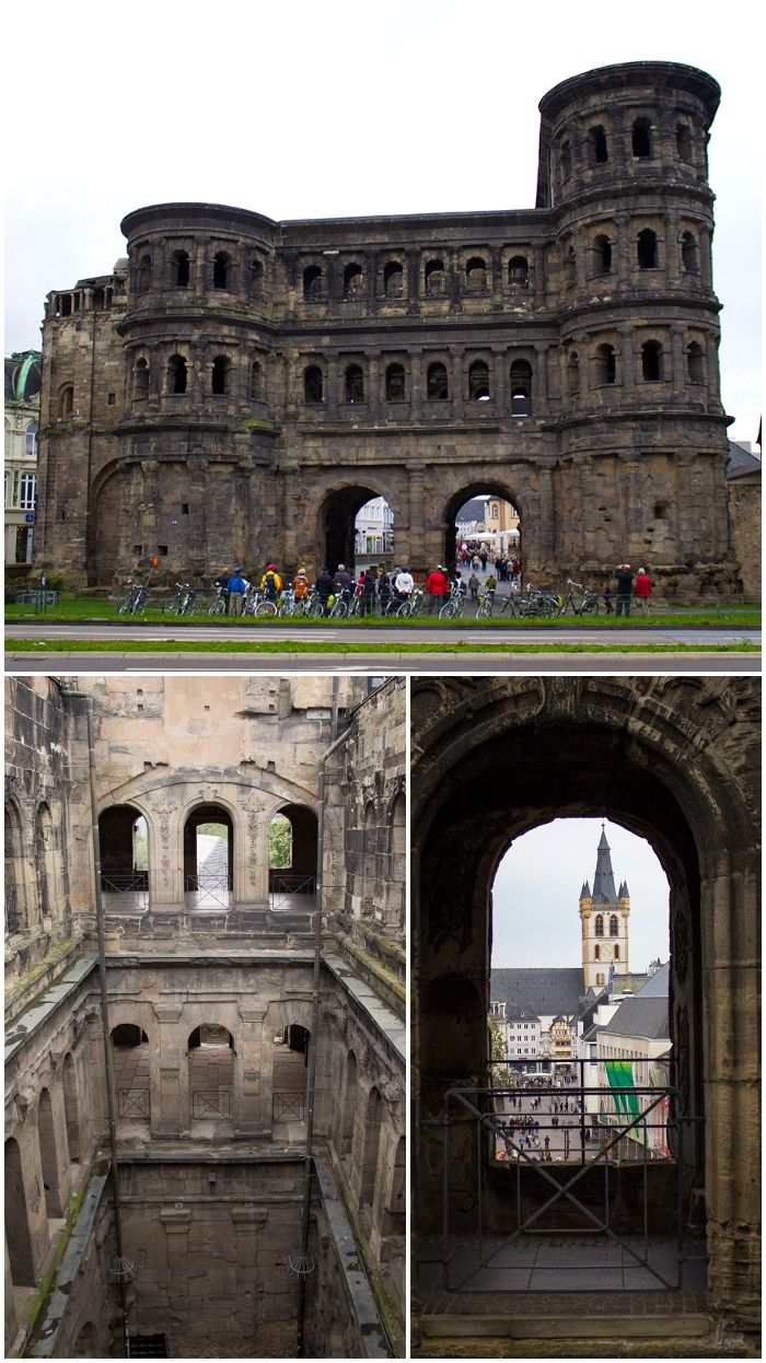 The Porta Nigra (or Black Gate) in Trier, Germany | How to Take a Day Trip in Trier