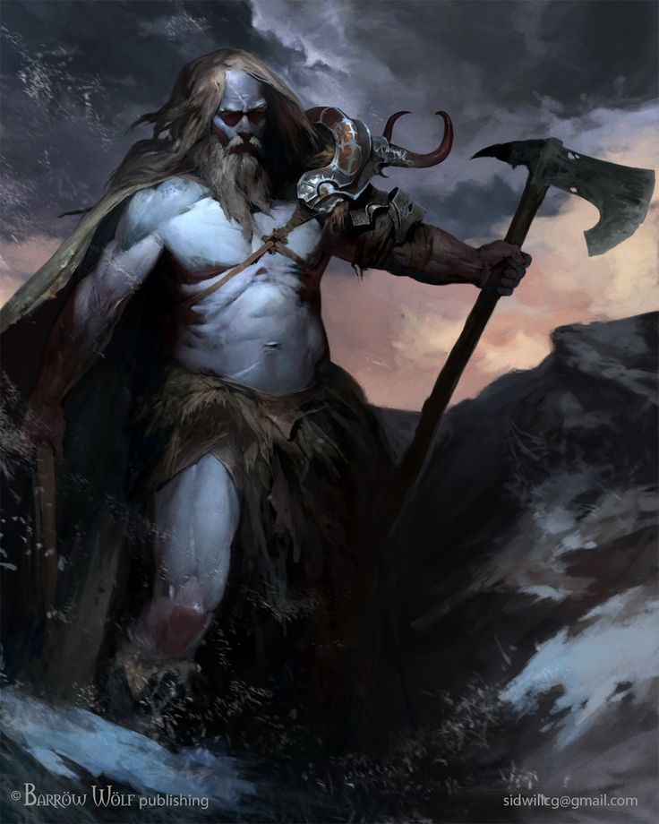 Half Frost Giant - Half Human by sidwill-cg