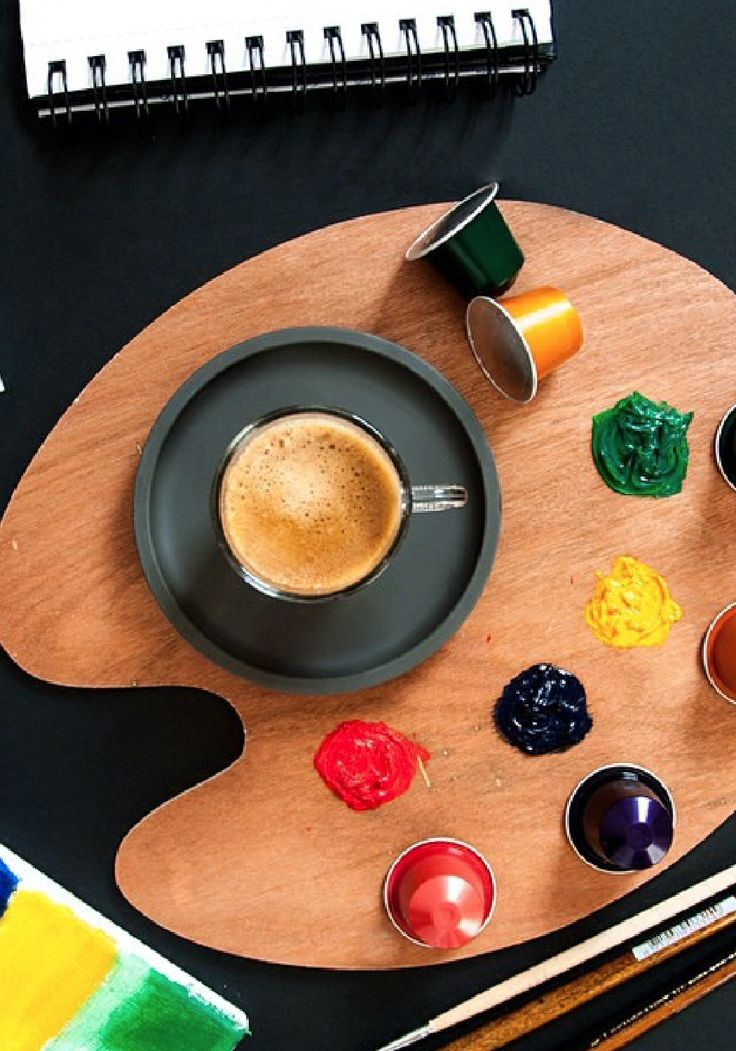 get inspired this season by the bright colors of your paint palette and the robust flavors of your favorite nespresso coffee recipe