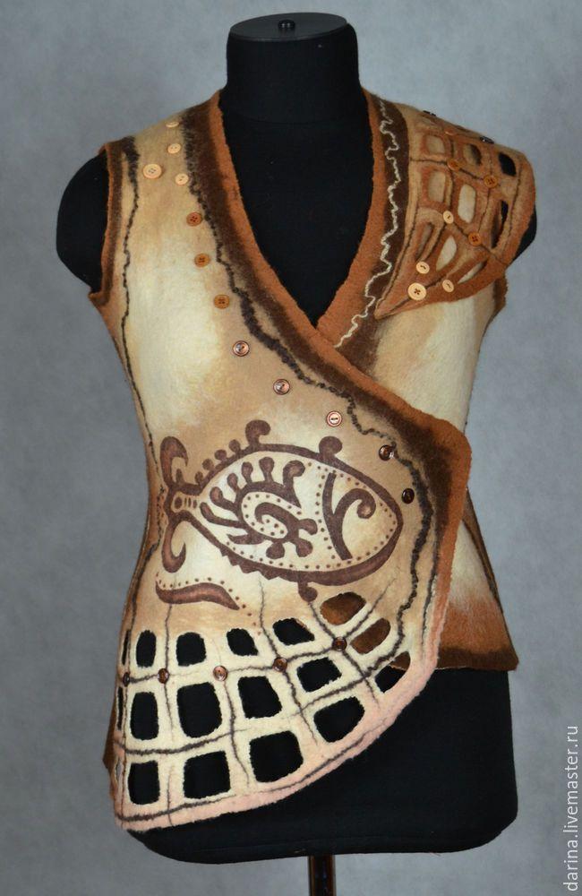 Делаем трафаретный рисунок на готовом изделии из войлока - Ярмарка Мастеров - ручная работа, handmade