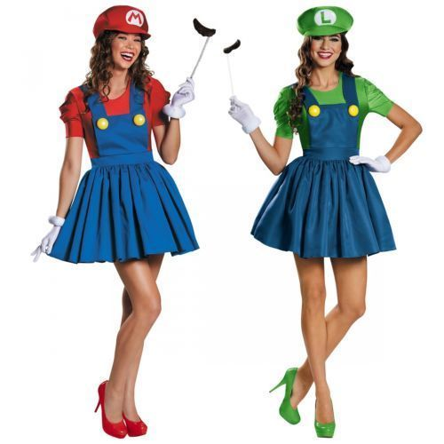 Sexy-Mario-and-Luigi-Costumes-Adult-Womens-Group-Ideas-Halloween-Fancy-Dress