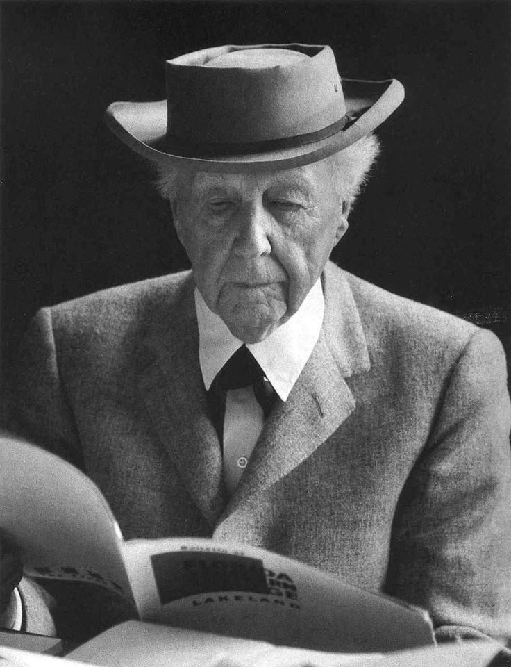 1956 - American architect, interior designer, writer and educator Frank Lloyd Wright, who believed in a wholistic philosophy of 'organic architecture'. photo by Alfred Eisenstaedt