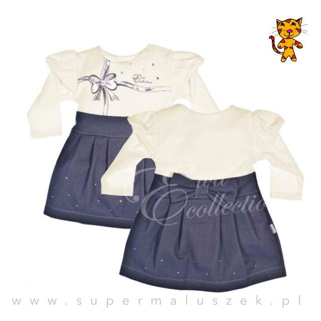 Elegancka bawełniana sukienka dla dziewczynki. Takie prezent może znaleźć się np. pod choinką. #girl #dress #christmas #birthday #prezent #dziewczynka