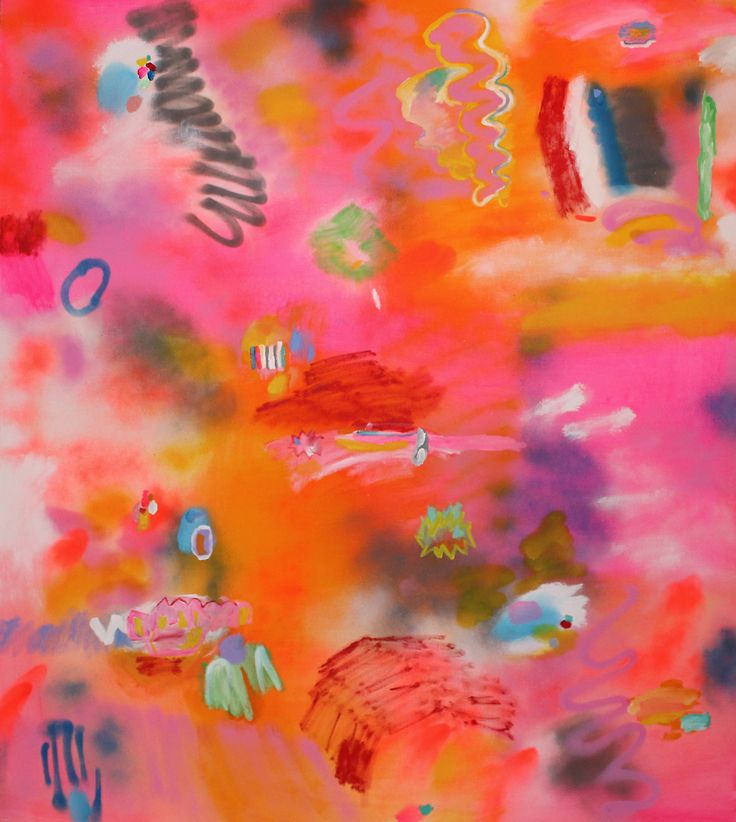 Love Me Tender, acrylic and spray paint on canvas, 2014.