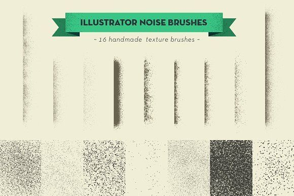 handmade texture vector brushes by kloroform on @creativemarket