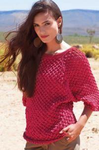 Спицами алый пуловер с узором фото к описанию