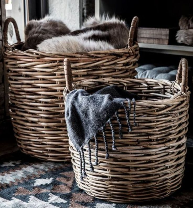 There's no need to hide your Winter blankets and throws in the cupboard over Summer… pop them in RG Baskets instead!