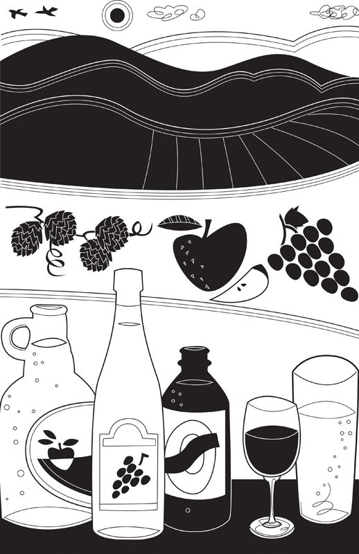 #joannakerr #newdivision #illustration #flatgraphic #line  #decorative #landscape #food #drink
