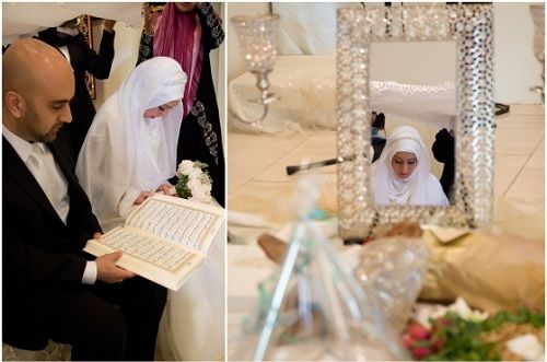 Muslim Wedding Dresses Houston : Muslim bridal hijab wedding pre
