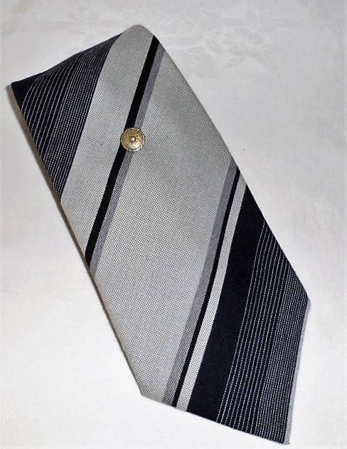 Vintage 80s CRAVATTA RUSTICA Striped Wool Polyester Dress