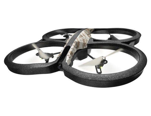The new Parrot AR.Drone 2.0 Elite Edition Sand, with specially customised camouflage like features, is the latest development of Parrot's world renowned high tech quadricopter, which can be easily controlled by Wi-Fi using a Smartphone or Tablet with the free downloadable app.