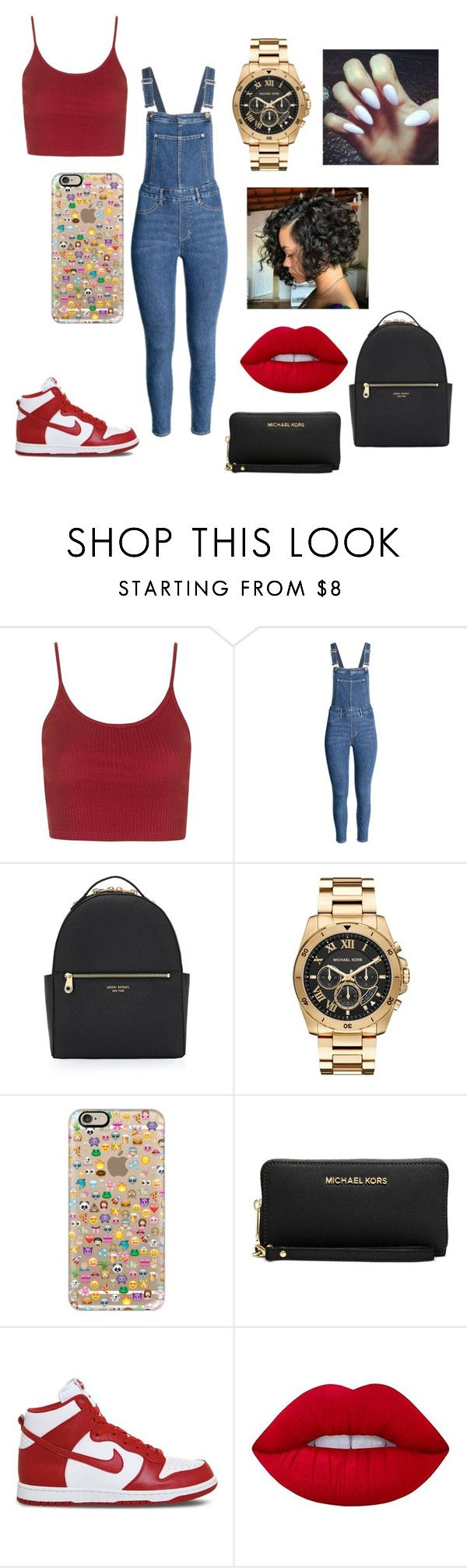 """Back to school"" by junebug02 on Polyvore featuring Topshop, Henri Bendel, Michael Kors, Casetify, NIKE and Lime Crime"