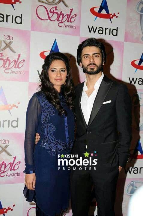 Fawad khan with wife...