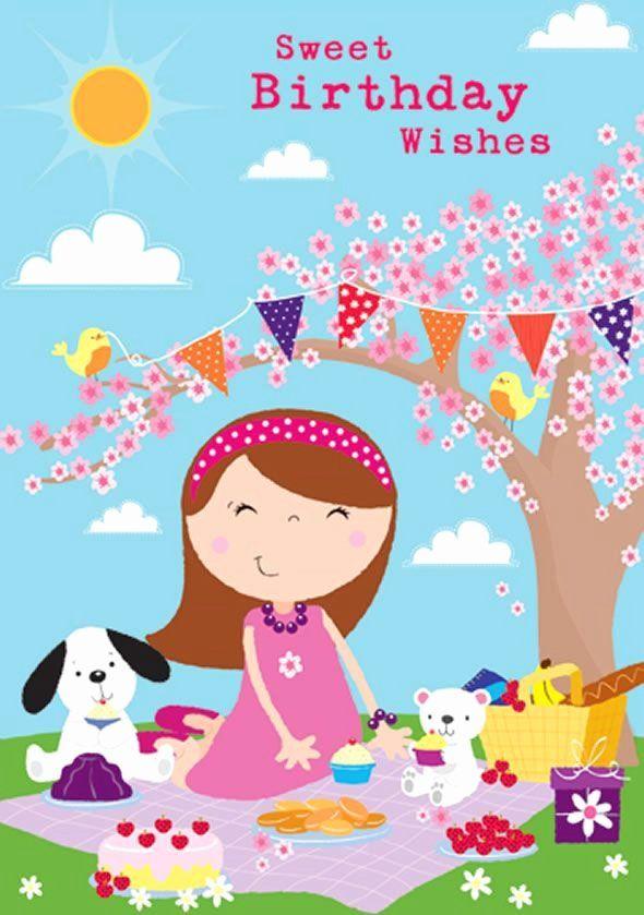 Kid Birthday E Cards Fresh Cute Kids Children Birthday Greeting