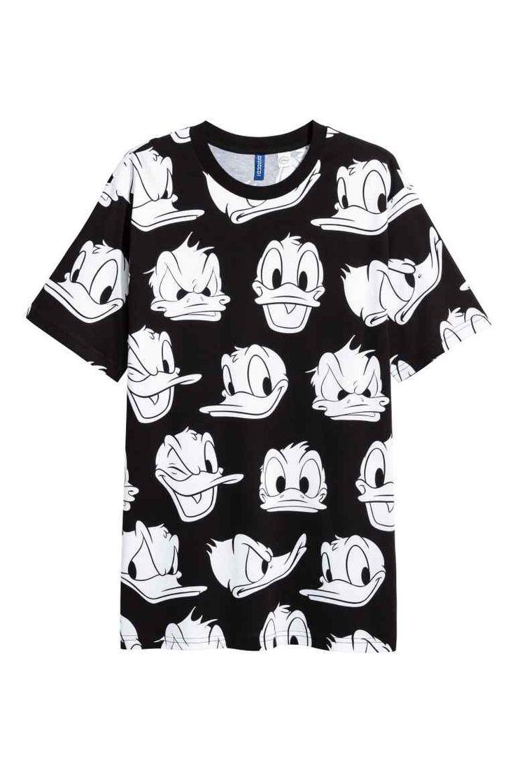 T shirt design houma la - T Shirt Motif Noir Donald Homme H M