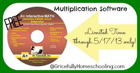 Gricefully Homeschooling: FREE Elementary + Middle School Multiplication Interactive Math Software *LIMITED TIME*