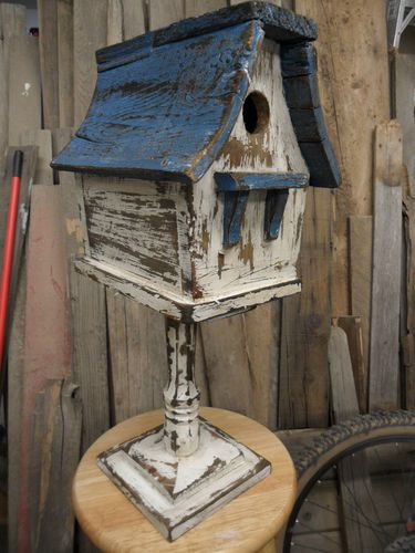 Vintage Birdhouse Antiqued Rustic Shabby Chic Styled Birdhouse Functional | eBay