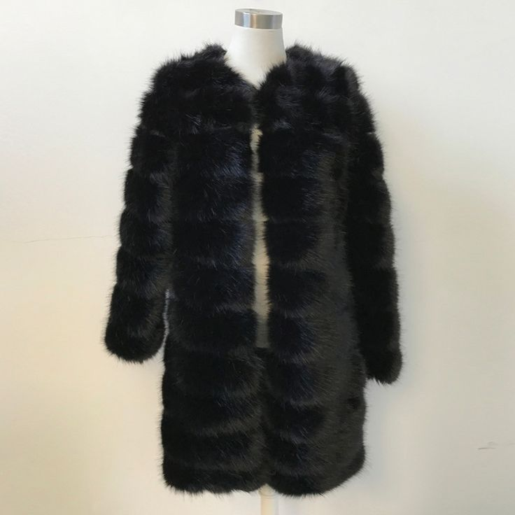 Lanshifei X-Long Thick Fur Coat Women's Fur Jacket Winter Overcoat Faux Fur Outerwear New 2016 Fashion Style