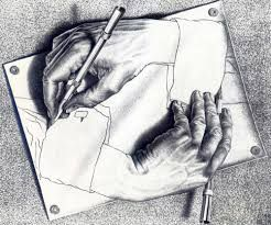 Image result for escher hands drawing themselves