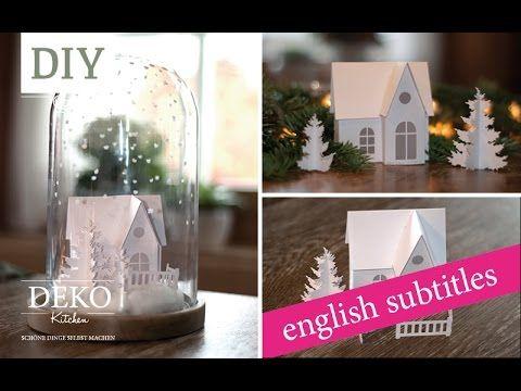 Weihnachtsdeko basteln - Winterlandschaft Tutorial / Winter wonderland How-to   Deko Kitchen - YouTube