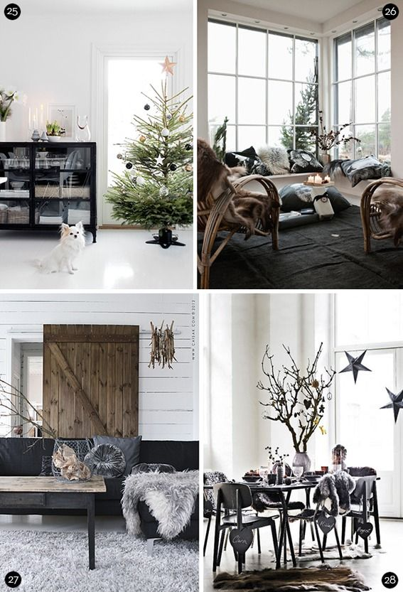 Scandinavian-inspired Christmas decor