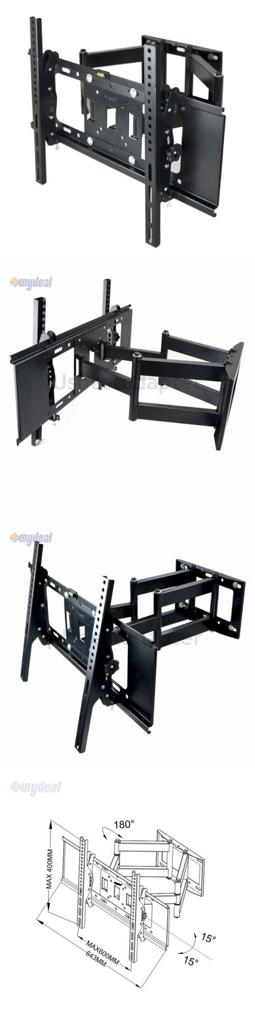 TV Mounts and Brackets: Full Motion Swivel Tv Wall Mount Bracket For 22 -75 Sanus Samsung Led Plasma -> BUY IT NOW ONLY: $32.99 on eBay!