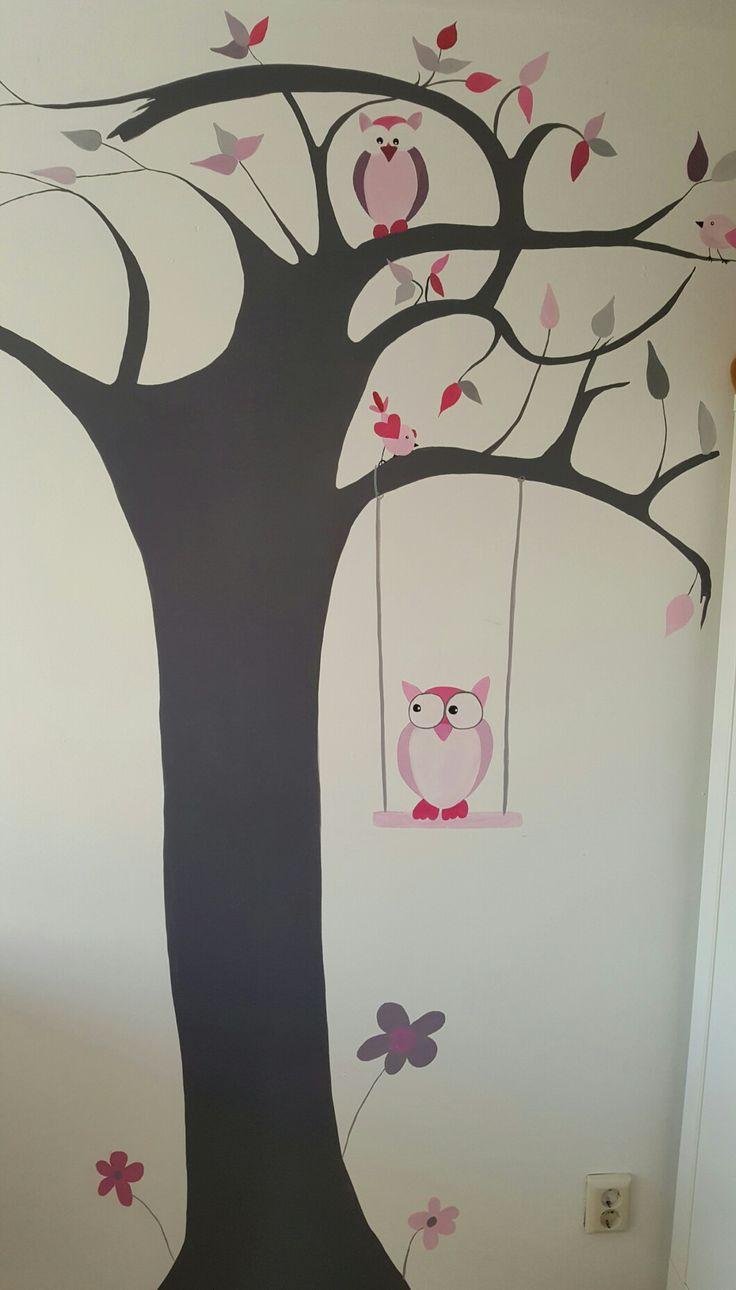 Muurschildering babykamer in Amersfoort. Janet Edens