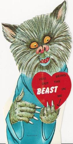 Werewolf Valentine ~ Too stinking cute!!