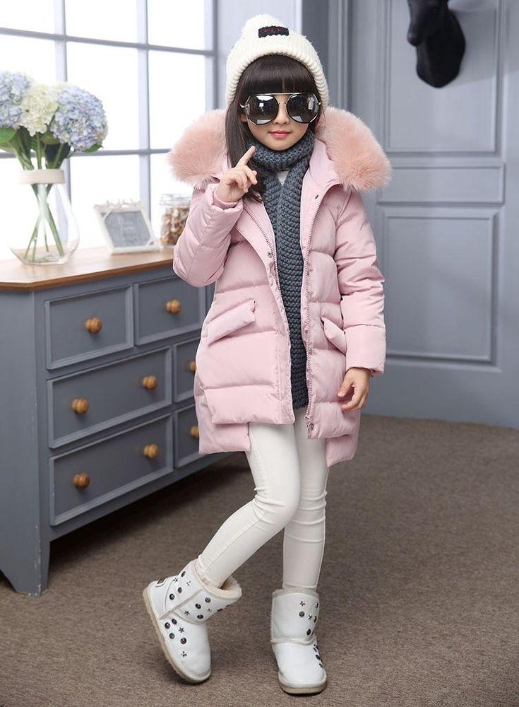 Warm Winter Jackets Girl Duck Down & Parkas