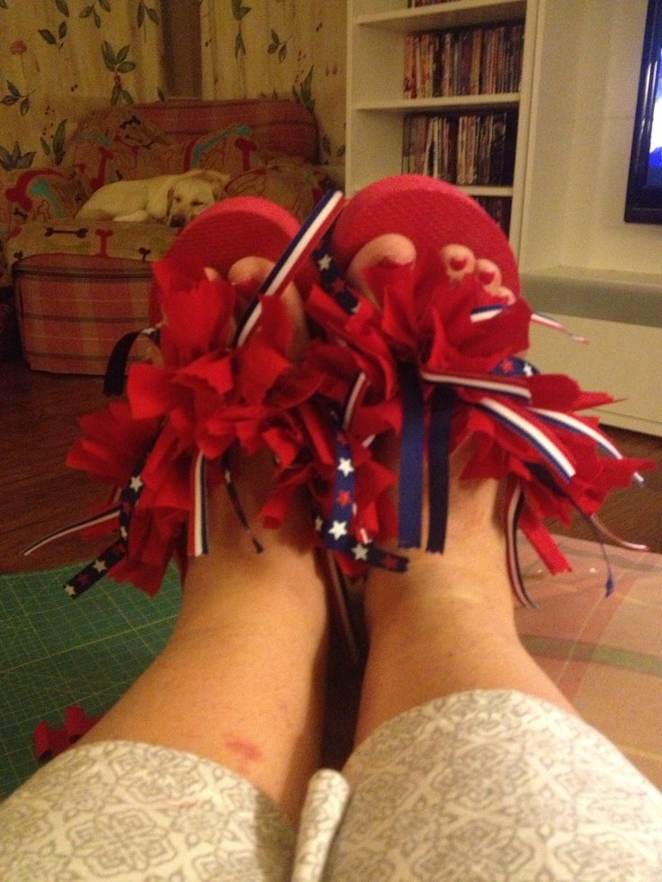 4th of July flip flops!