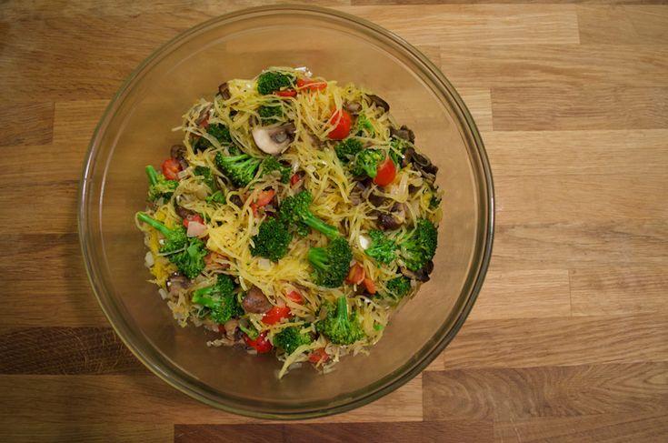 Spaghetti Squash with Vegetables and Feta