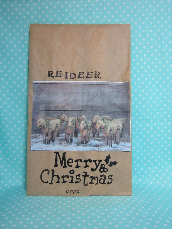 Primitive Christmas Pattern. Herd of Reindeer.  Cheapest Pattern and Shipping.