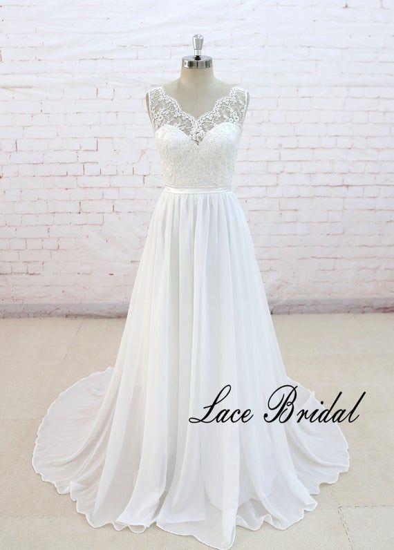 A Line Wedding Dress Simple Wedding Dress Elegant Wedding Etsy Cheap Beach Wedding Dresses Informal Wedding Dresses Online Wedding Dress