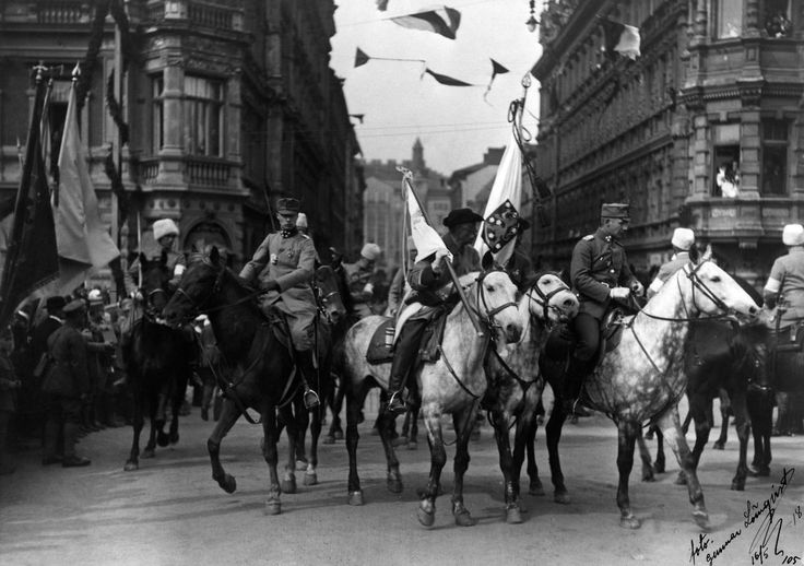 Parade after the Battle of Helsinki in the Finnish Civil War in 1918