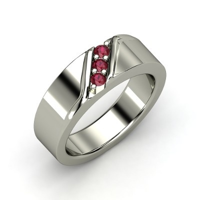 Slash Ring Men S Sterling Silver Ring With Ruby Jewelry