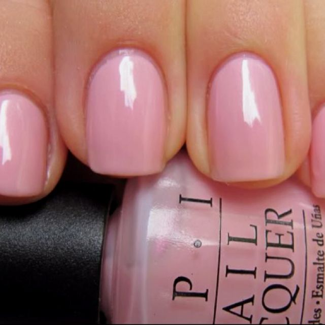Opi Nail Polish Pink A Doodle H37 Sheer Iridescent Pink Soft Shades Collection Opi Pink Opi