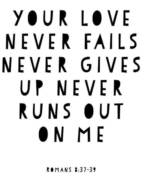 Your love never fails it never gives up
